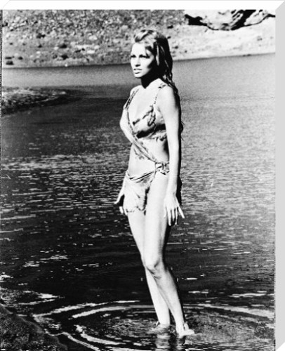 Raquel Welch canvas art print by Celebrity Image