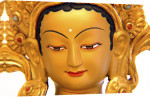 Sculpture of a Buddha giclee art print