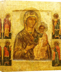 Mother Of God Smolenskaia, Possibly Novgorod School giclee art print