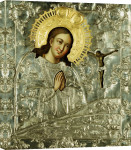 A Silver Icon Of The Akhtyrskoi Virgin, 1776 giclee art print