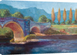 Blue Bridge Poplars giclee art print