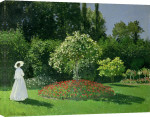 Woman in a Garden, 1867 giclee art print
