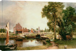Dedham Lock and Mill, 1820 giclee art print