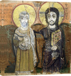 Icon depicting Abbott Mena with Christ from Baouit giclee art print