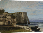 Cliffs at Etretat after a storm giclee art print