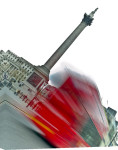 Trafalgar Square London Bus giclee art print