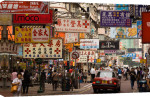 Fa Yuen street, Mong Kok District, Kowloon, Hong Kong, China giclee art print