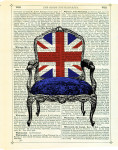 Union Jack Chair giclee art print