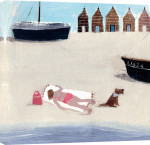 Sunbathing giclee art print
