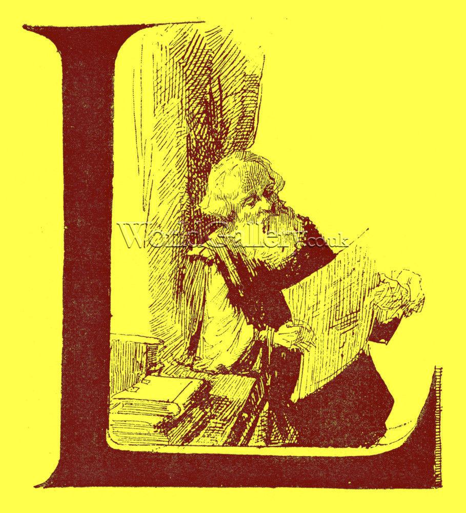 Illuminated Letter L