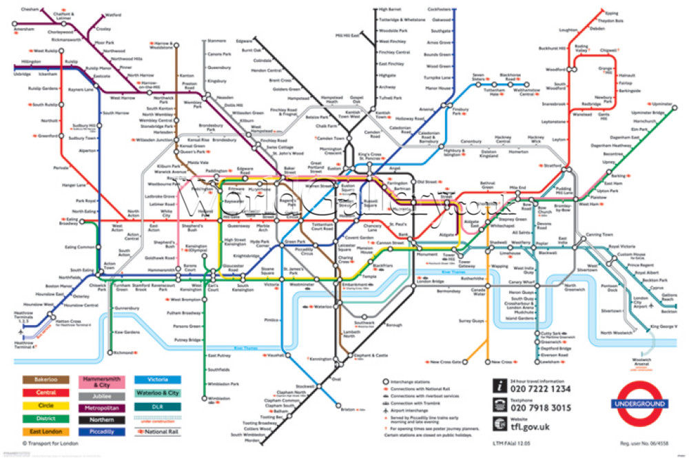 Looking for a tube map... Not a map tube, thanks Google vintage ...