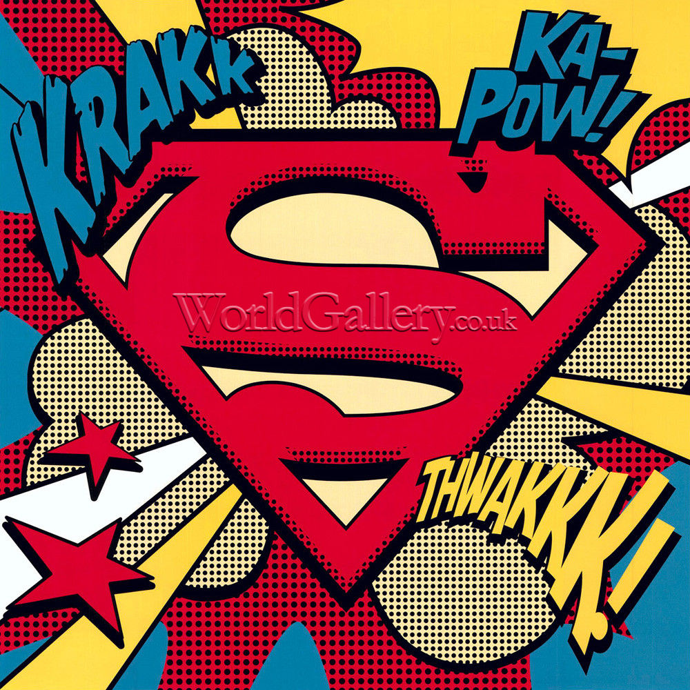 Superman Pop Art Shield Art Print By Dc Comics