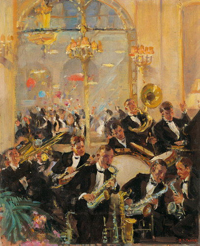 Jazz Band Savoy Hotel London by Harold Septimus Power