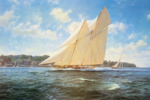 Racing Schooner Westward by Steven Dews