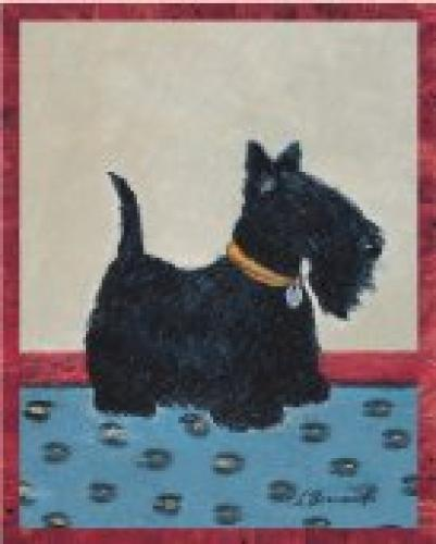 barnard poster sur toile scottish terrier. Black Bedroom Furniture Sets. Home Design Ideas