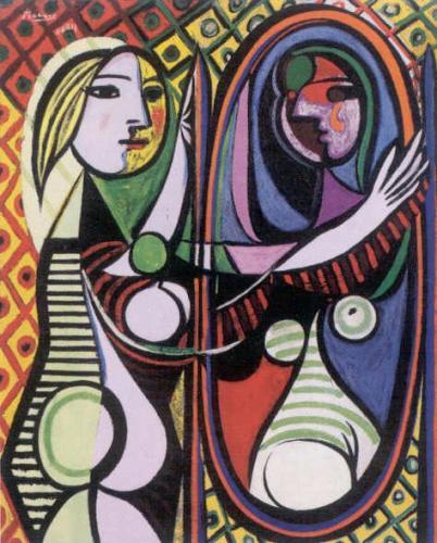PABLO Picasso Mdchen vor dem Spiegel 1932 Farbiger