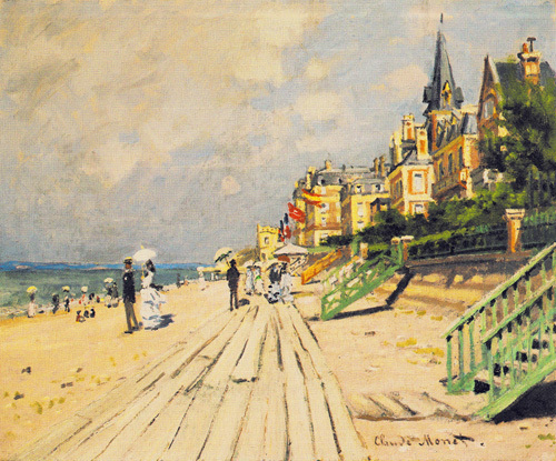 Beach at Trouville 1870 by Claude Monet