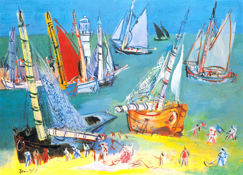 Boats in the Port by Raoul Dufy
