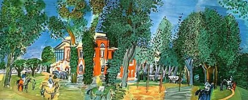 The Paddock at Deauville by Raoul Dufy