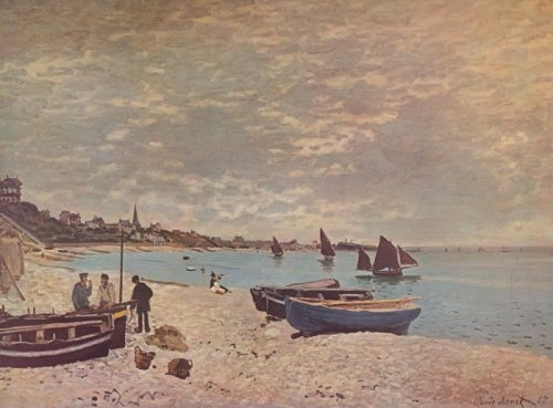 Beach at St. Adresse by Claude Monet