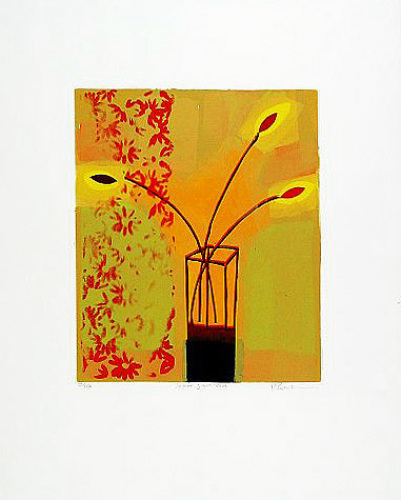 Yellow Glass Vase #1#2000#2# by Russell Baker