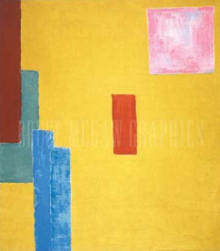 Abstract Painting 1914 (Silkscreen print) by Elisabeth Bell