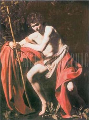 St. John the Baptist in the Wilderness by Michelangelo Merisi Caravaggio