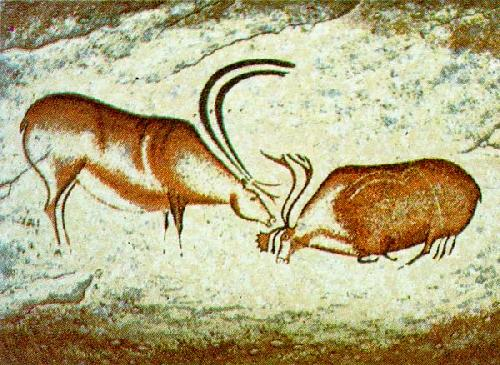 Two Reindeer by Cave Art