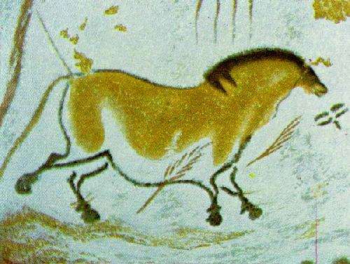 Yellow Horse by Cave Art