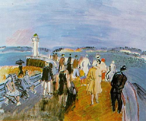 Jetty At Honfleur by Raoul Dufy