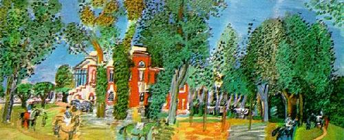 Paddock At Deauville by Raoul Dufy
