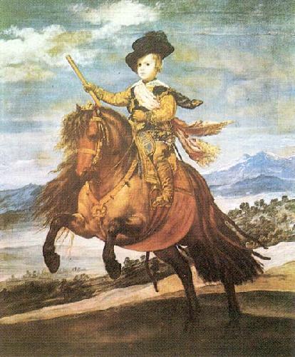 Prince Balthazar Carlos On Pony by Diego Rodriguez De Silva Velazquez