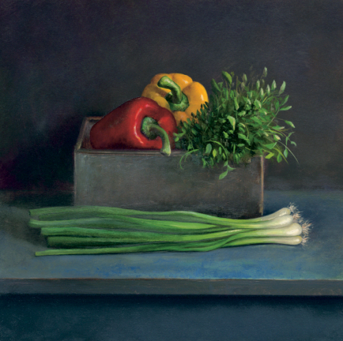 Still Life with Paprika by Jos Van Riswick