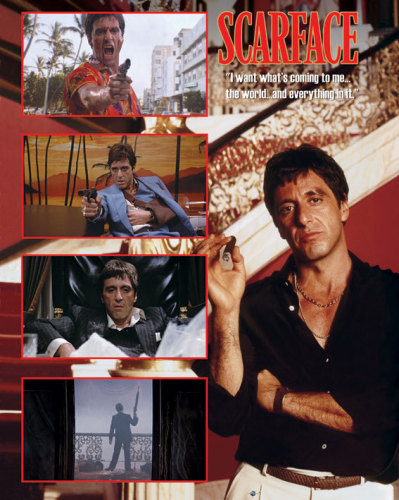 the world is yours scarface poster. Scarface (The World) by Mini
