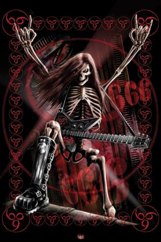 Skull poster size 24x36
