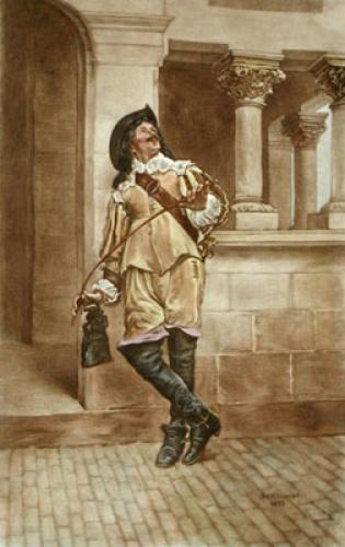 Cavalier (with Riding Crop) (Restrike Etching) by Jean Louis Ernest Meissonier