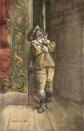 Cavalier (Twirling Moustache) (Restrike Etching) by Jean Louis Ernest Meissonier