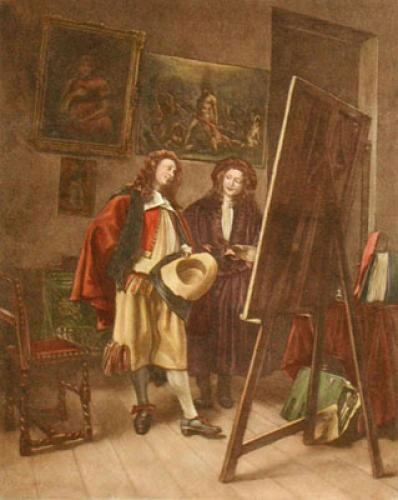 The Painter (Restrike Etching) by Jean Louis Ernest Meissonier