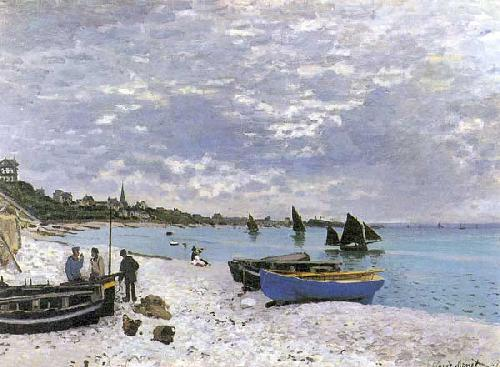 The Beach At Sainte Adresse by Claude Monet