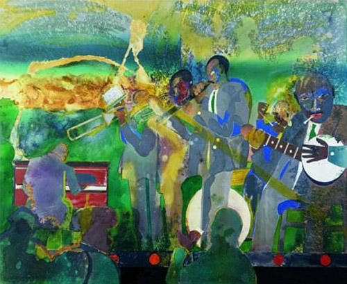 a review of rompre beardens painting jammin at the savoy Beardenromare a centennial jamming at the savoy, 1981 romare bearden where he studied life drawing and painting in 1938, bearden.
