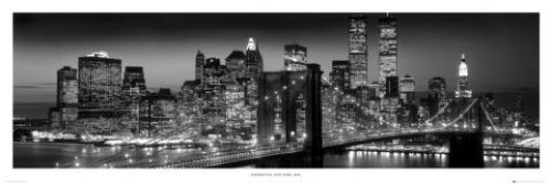New York Manhattan Black (Berenholtz) by Door Posters