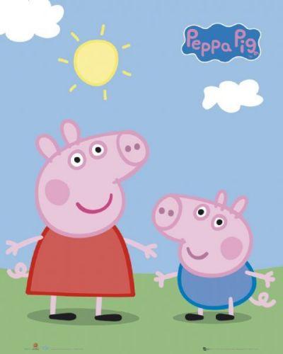 Peppa Pig Peppa and George by Mini Posters