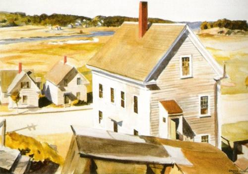 House by Squam River Gloucester 1926 by Edward Hopper