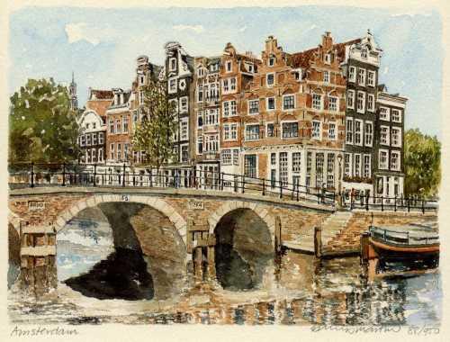 Схема вышивки Мосты Амстердама