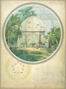 Aviary in a Winter Garden art print