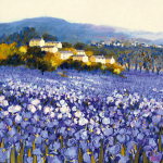 Champs D&#39;iris, Provence art print