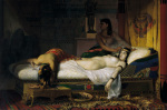 Death of Cleopatra, 1874 art print