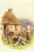 Highland Cottage art print
