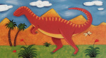 Izzy the Iguanodon art print