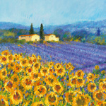 Lavender and Sunflowers, Provence art print